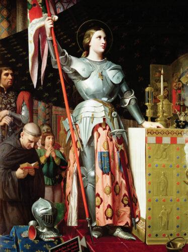 Ingres, Jeanne d'Arc au sacre du roi Charles VII, huile sur toile, 1854.